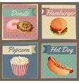 Fast food menu cards vector image