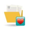 file design social media icon online concept vector image
