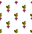 fresh organic purple sweet beet seamless pattern vector image