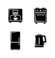 kitchenware simple related icons vector image