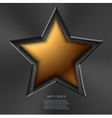 modern gold star background vector image
