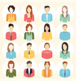 people flat icons collection vector image