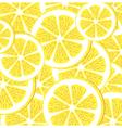 Seamless lemon pattern vector image