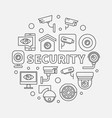 security round concept linear vector image