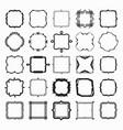 set of black different styles line frame works vector image