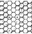 simple honeycomb pattern vector image
