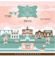 Wedding in the City Festive Romantic Cityscape vector image