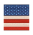 wall wooden with american flag design vector image