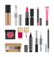 realistic packages for decorative cosmetics vector image