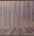 wooden wall background vector image