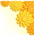 decorative background with yellow orange 3d paper vector image vector image