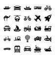 Automobile glyph icons 2 vector image