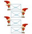 Red Elf Holding Big Letter vector image vector image