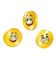 Golden smiling coins vector image vector image