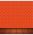 wall with wooden floor vector image vector image
