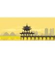 China National Building vector image