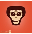 Monkey logo template vector image