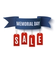 Big Memorial Day sale background template vector image