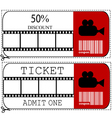 Ticket Sale voucher vector image