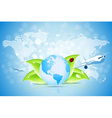 Planet Earth with World Map vector image vector image