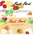 Fast Food concept banner flat style vector image