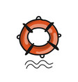 lifebuoy sketch for your design vector image