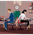 Love affair at work vector image