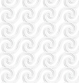 Paper white striped spiral waves vector image