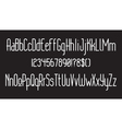 rounded thin font 01 vector image