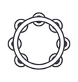 tambourine line icon sign on vector image