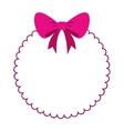 bowntie ribbon elegant icon vector image