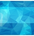 triangular style blue abstract background vector image vector image