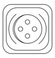 square button icon outline style vector image