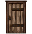 old wooden door on white background vector image vector image