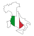 Italy hand signal vector image vector image