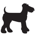 Airedale Terrier Silhouette vector image vector image