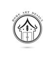 Creative home icon logo design vector image