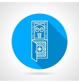 Flat round icon for water purifier vector image