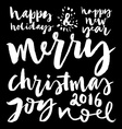 Christmas decoration collection Set of vector image