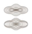 oval guilloche rosettes vector image