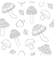abstract mushrooms vector image