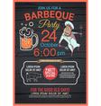BBQ party menu vector image
