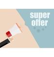 super offer Flat design business vector image