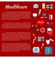 Healthcare medical infographic leaflet vector image