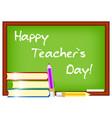 postcard for teacher s day vector image
