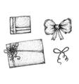 Set of hand drawn ink design elements vector image