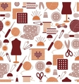 Sewing icons seamless pattern vector image
