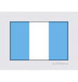 Flag of Guatemala Aspect Ratio 2 to 3 vector image