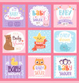 baby shower invitation set card print vector image