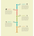 Infographic timeline chart elements vector image